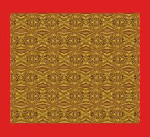 Luxury Red and Gold Foil Christmas Pattern Baby Tee