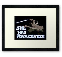 Movies - she has awakened Framed Print