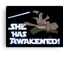 Movies - she has awakened Canvas Print