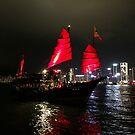 Junk Boat, Victoria Harbour, Hong Kong by Simone Maynard