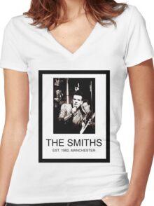 Da Smiths  Women's Fitted V-Neck T-Shirt