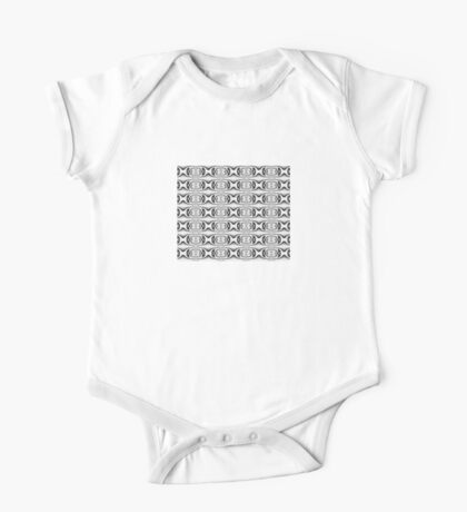 Figure 8 Black and White Pattern One Piece - Short Sleeve