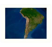 Glaciers in regions of South America. Art Print