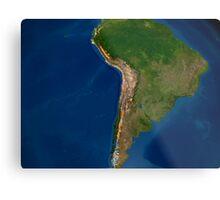 Glaciers in regions of South America. Metal Print