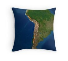Glaciers in regions of South America. Throw Pillow