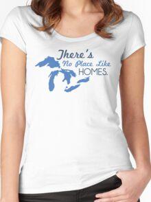 There's No Place Like H.O.M.E.S. Women's Fitted Scoop T-Shirt
