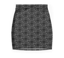 Cubes - Black And White Mini Skirt