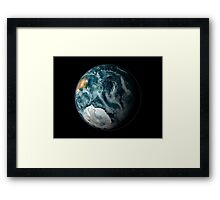 Full view of the Earth highlighting Antarctica and its surrounding sea ice. Framed Print