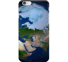Full Earth showing the Arctic region. iPhone Case/Skin