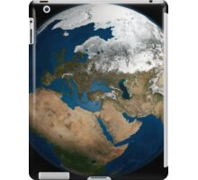 A global view over Europe and Scandinavia with Arctic sea ice. iPad Case/Skin