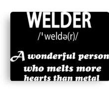 WELDER Canvas Print