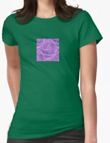 Seamless Purple Rose Vector Womens Fitted T-Shirt