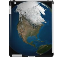 A global view over North America with Arctic sea ice iPad Case/Skin