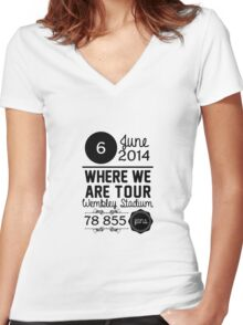 6th June - Wembley Stadium WWAT Women's Fitted V-Neck T-Shirt