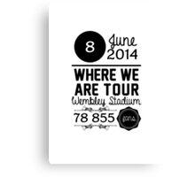 8th June - Wembley Stadium WWAT Canvas Print