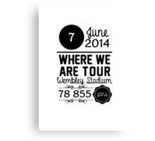 7th June - Wembley Stadium WWAT Canvas Print
