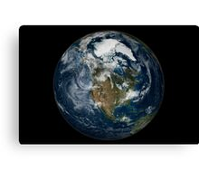 Full Earth showing North America. Canvas Print