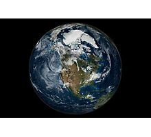 Full Earth showing North America. Photographic Print
