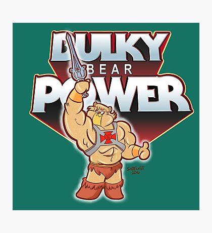 BULKY BEAR POWER Photographic Print