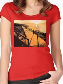 Head Of Bight Lookout,South Australia 2005 -2 Women's Fitted Scoop T-Shirt