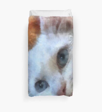 Van Cat - Pet Portrait Duvet Cover