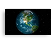 Full Earth view showing North America. Canvas Print