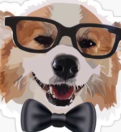 Smart Corgi Sticker