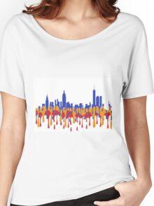 New York City, New York skyline - Gaugan Women's Relaxed Fit T-Shirt