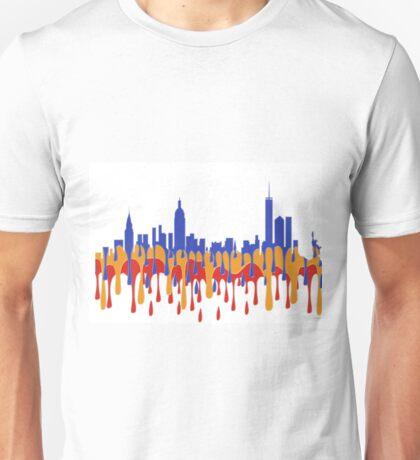 New York City, New York skyline - Gaugan Unisex T-Shirt