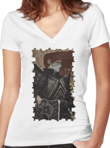 Female Dwarf Tarot Card Women's Fitted V-Neck T-Shirt