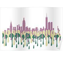 New York City, New York skyline - PCG Poster
