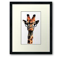Hipster Giraffe Framed Print