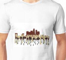 Los Angeles, California Skyline - Coffee Cream Unisex T-Shirt