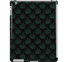 Weed Pattern 420 (outline) iPad Case/Skin