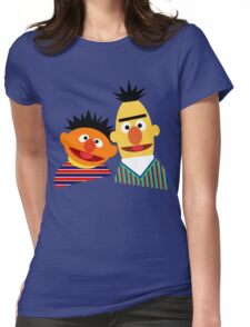 Ernie and Bert Womens Fitted T-Shirt
