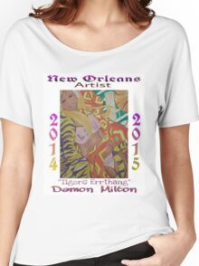 """New Orleans Artist """"Tigers Errthang"""" Poster Women's Relaxed Fit T-Shirt"""
