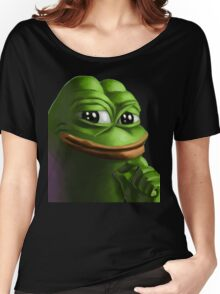 Smug Pepe Women's Relaxed Fit T-Shirt