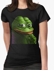 Smug Pepe Womens Fitted T-Shirt