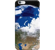 View of Earth showing the Arctic region. iPhone Case/Skin