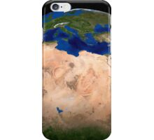 The Blue Marble Next Generation Earth showing North Africa. iPhone Case/Skin