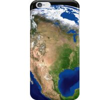 The Blue Marble Next Generation Earth showing North America. iPhone Case/Skin