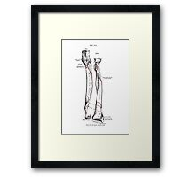 Bones of the left forearm; Anterior surface (The Ulna) Framed Print