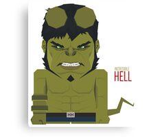 Hellcredible Hulk Canvas Print