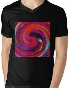 Modern Swirl Abstract Art #2 Mens V-Neck T-Shirt