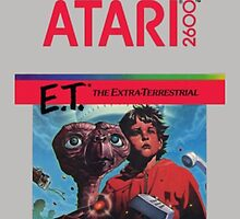 E.T. The Extra-Terrestrial - Atari 2600 Game Cover by Epicloud