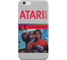 E.T. The Extra-Terrestrial - Atari 2600 Game Cover iPhone Case/Skin