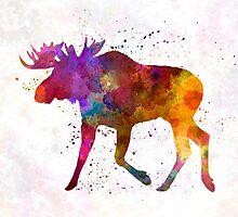 Moose 02 in watercolor by paulrommer