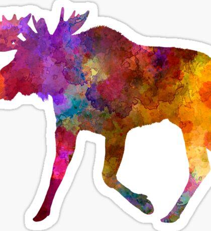 Moose 02 in watercolor Sticker