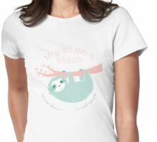 My spirit animal is a Sloth Womens Fitted T-Shirt