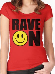 Rave On Music Quote Women's Fitted Scoop T-Shirt